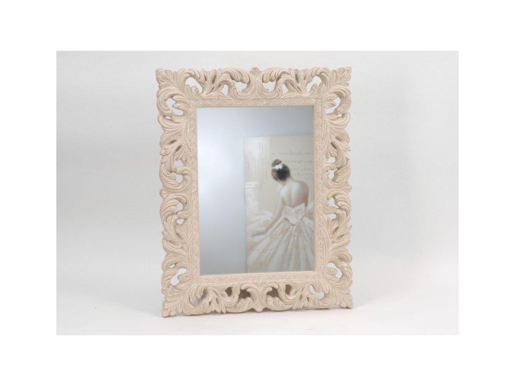 Zrcadlo Baroque krémové