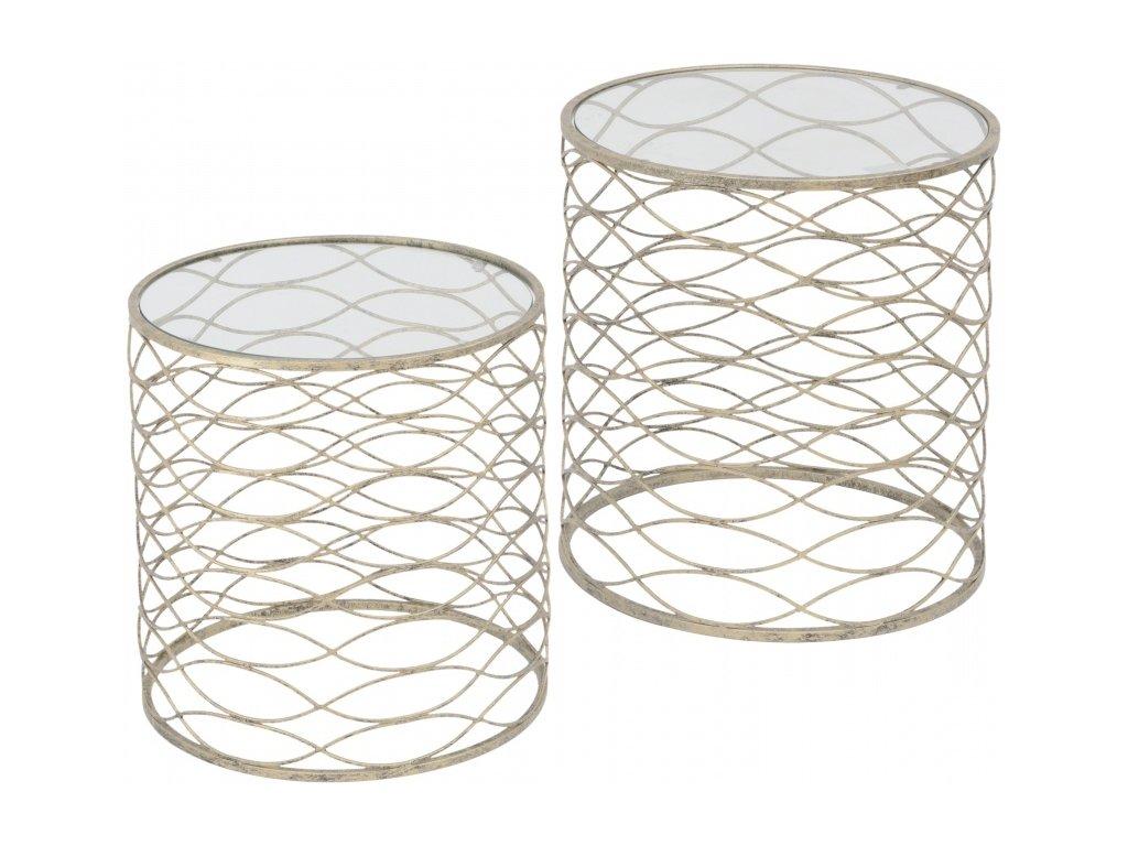 Gatsby - menší odkládací stolek se sklem