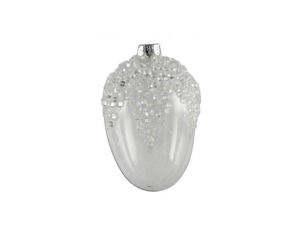 dekorace - velikonoční vejce skleněné s perličkami
