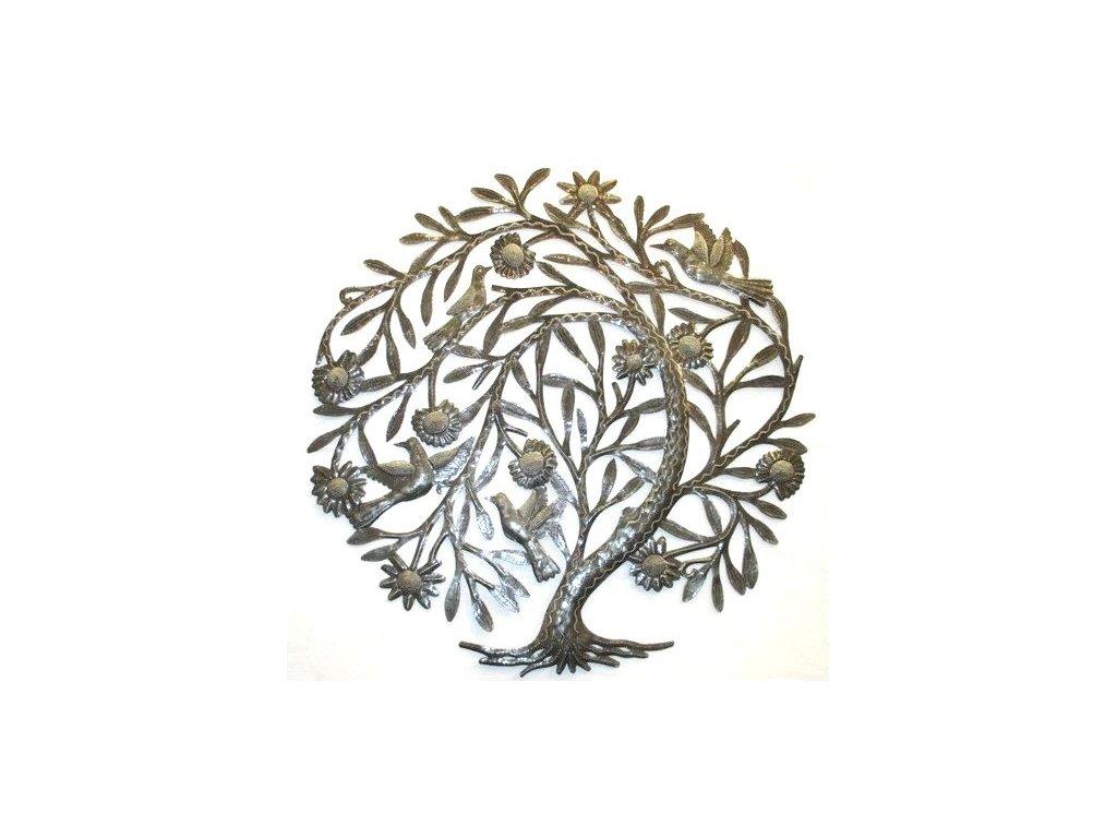 Dekorace na zeď - plastika smuteční strom 60cm