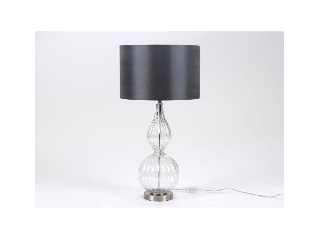 Stolní lampa Elegán, čiré sklo