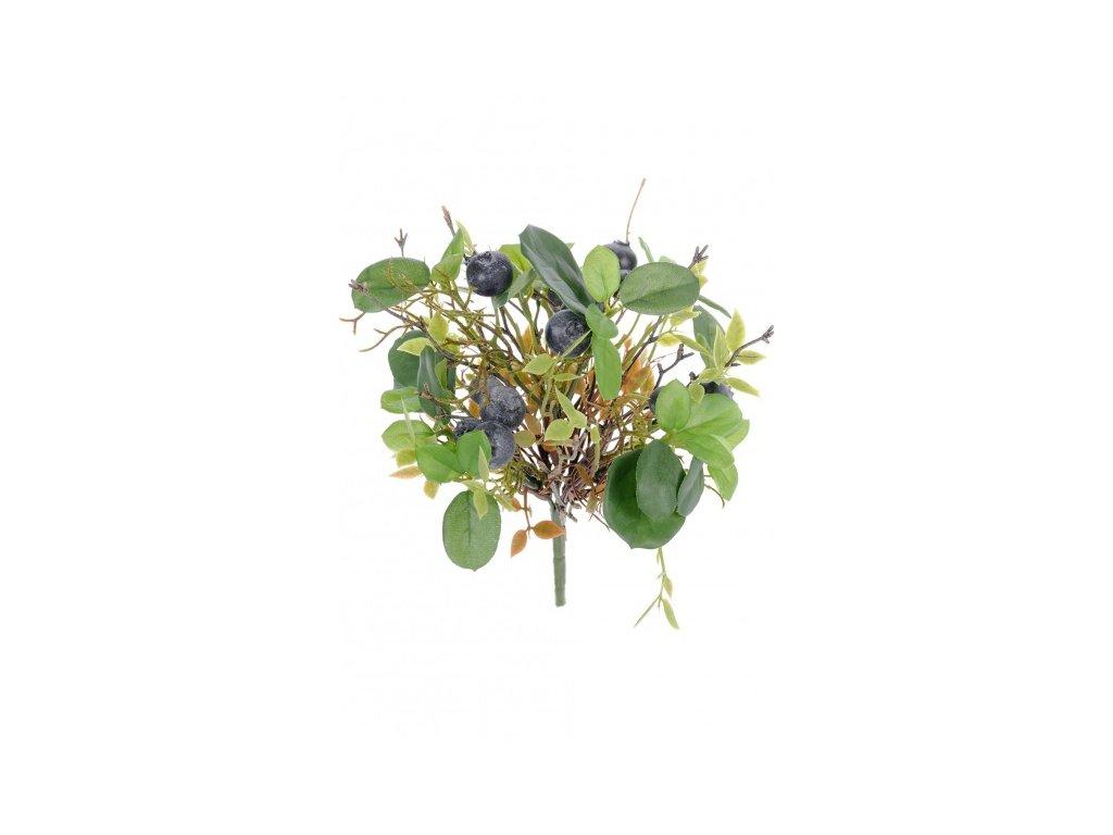 Umělá květina - Borůvkový buket