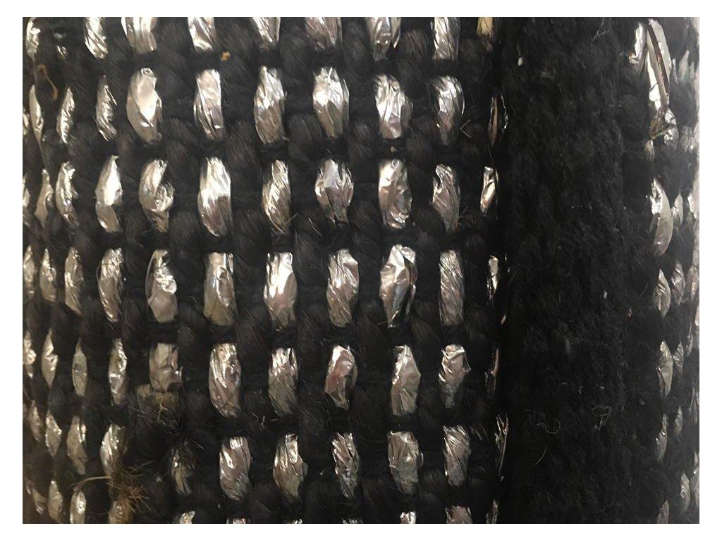 Koberec stříbrno-černý