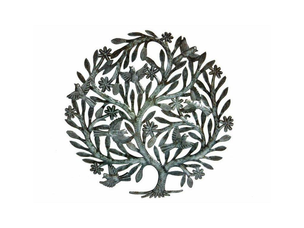 Dekorace na zeď - plastika strom života 60cm