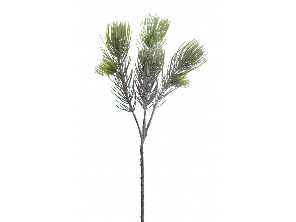 Umělá větvička zasněžená borovice