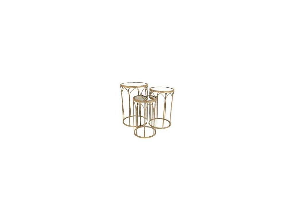 Odkládací stolek zlatý - velký