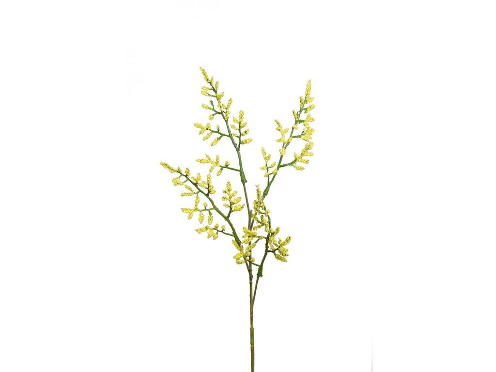 Umělá květina Limonium/statice žlutá