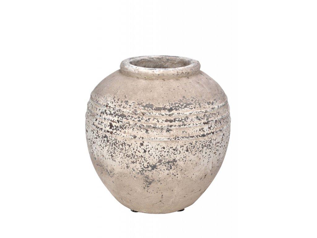 Váza šedá kamenina
