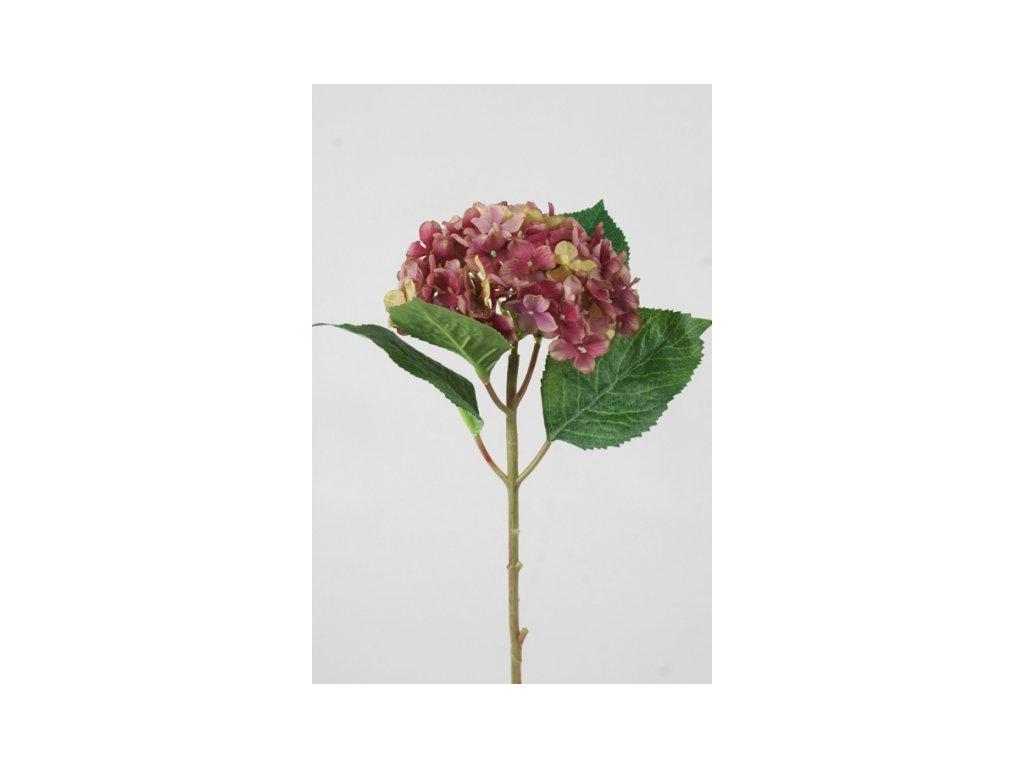 Umělá květina - Hortenzie mala bordo