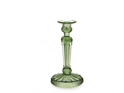 Svícen Art Deco zelený