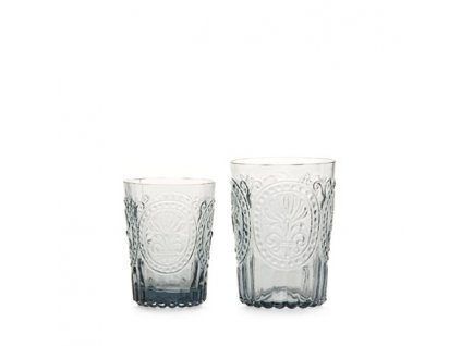 Sklenka Fleur de Lys glass velká šedá