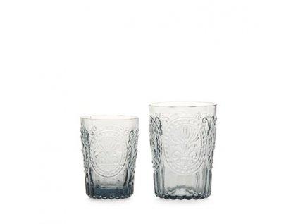 Sklenka Fleur de Lys glass malá šedá