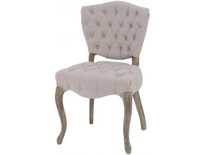Židle polstrovaná Chevry béžová