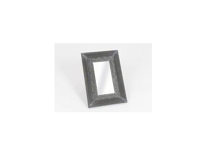 Nástěnné zrcadlo v kovovém rámu, malé