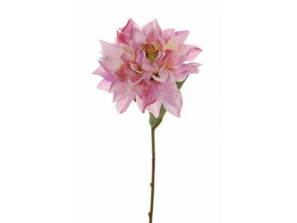 Umělá květina - Jiřina malá růžová