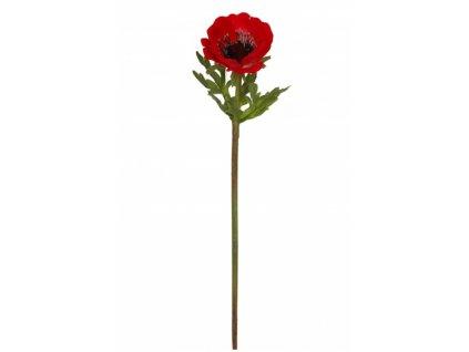 Umělá květina - Sasanka červená