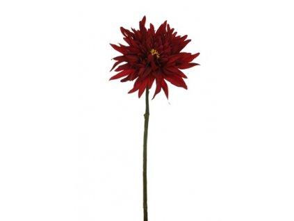 Umělá květina - Jiřina vodní stonek bordo