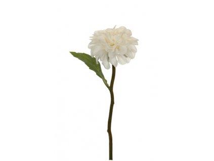 Umělá květina - Jiřina malá bílá