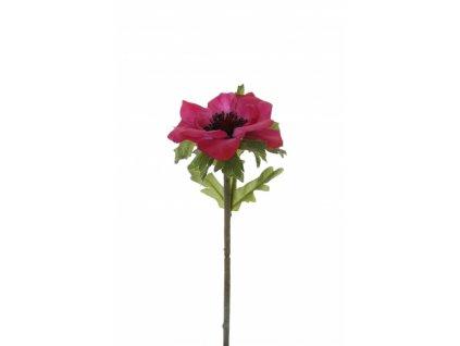 Umělá květina - Sasanka bordo