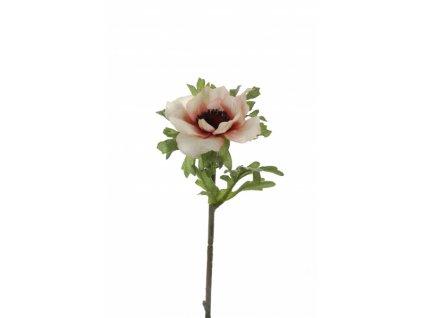 Umělá květina - Sasanka béžová