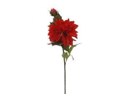 Umělá květina - Jiřina w/1 červená