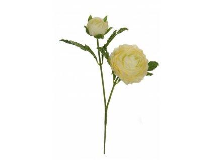 Umělá květina - Pryskyřník malý bílý