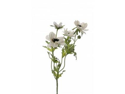 Umělá květina - Sasanka x4 bílá