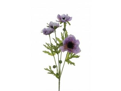 Umělá květina - Sasanka sv.fialová x4
