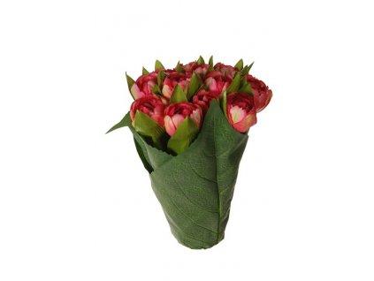 Umělá květina - Tulipány v květináči