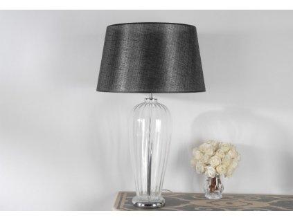 Stolní lampa skleněná, čiré sklo