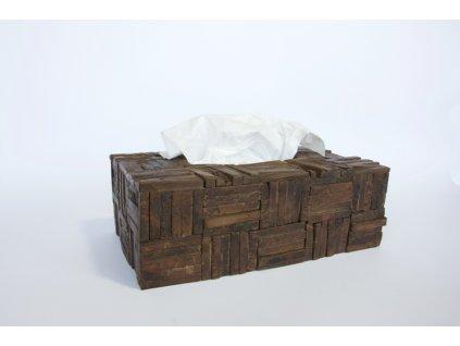 Krabice na kapesníčky hnědá kvádr