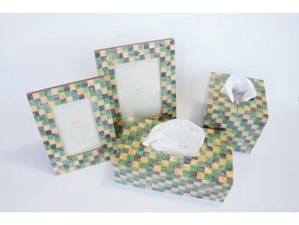 Krabice na kapesníčky kostkovaná krychle