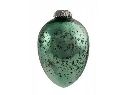 dekorace - velikonoční vejce Manolo, zelené sklo, velké