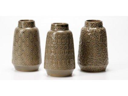 Váza šedomodrá s kosočtverci