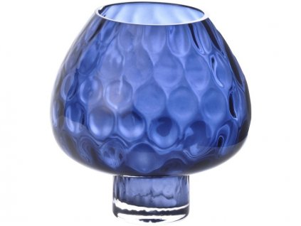 Váza Hurikán modrá