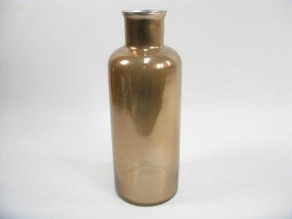 Váza hnědá med 18x18x49
