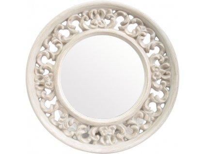 Nástěnné zrcadlo Talia, kulaté, bílý rám
