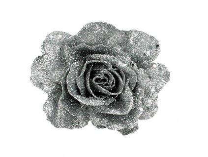 Ozdoba růže stříbrná
