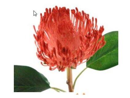 Umělá květina - Chryzantema červená