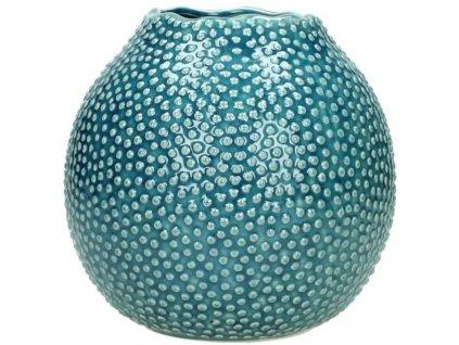 Váza modrá zdobná