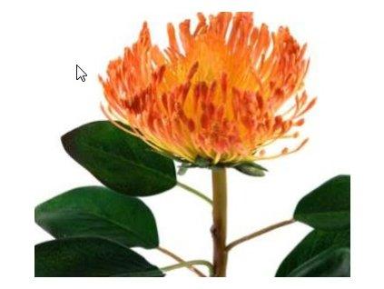 Umělá květina - Chryzantema oranžová