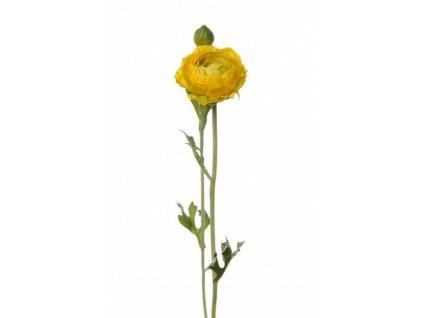 Umělá květina - Pryskyřník tm. žlutý