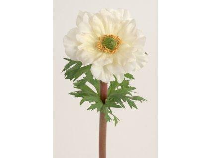 Umělá květina - Sasanka bílá