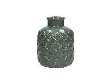 Váza šedivá keramika