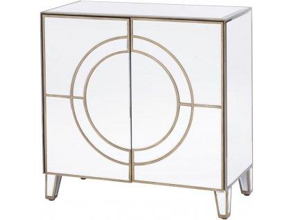 Komoda - zrcadlový kabinet, zlatá linka