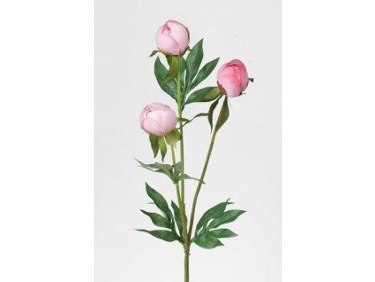 Umělá květina - Pivoňka poupata růžová
