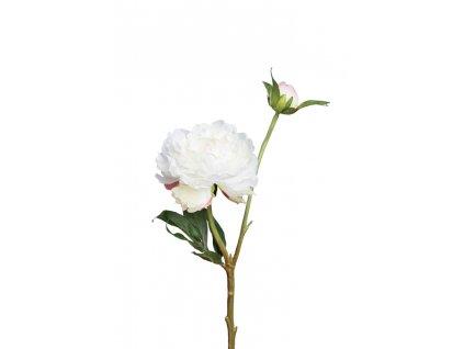 Umělá květina / Pivoňka bílá s poupětem