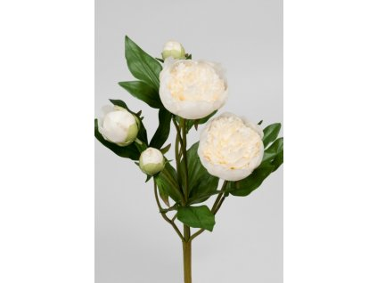 Umělá květina - Pivoňka bílá