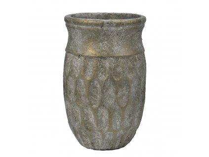 Váza antik zlatozelená