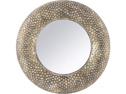 ZZrcadlo kovové se zlatou patinou R 70 cm